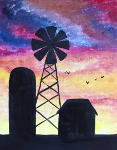 cork and canvas windmill MAGGIE