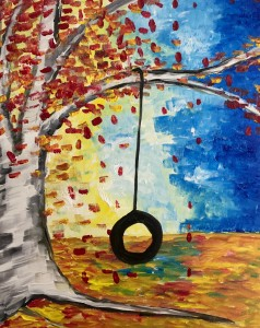 cork and canvas fall tire swing