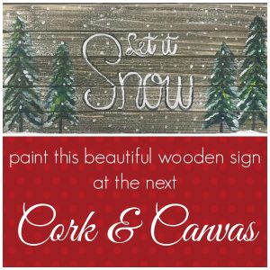 let it snow wooden sign promo image