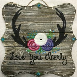 love you deerly cork and canvas board